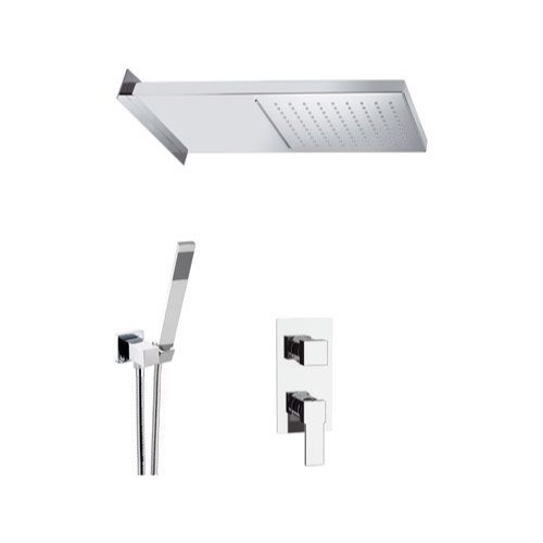 Shower Faucet, Remer Q937S02SSCA, Chrome Shower System With 20