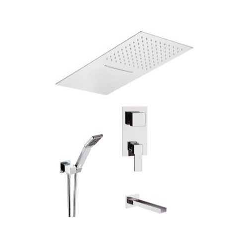 Tub and Shower Faucet, Remer QC94S04UFCA, Chrome Wall Mounted Tub and Shower Faucet