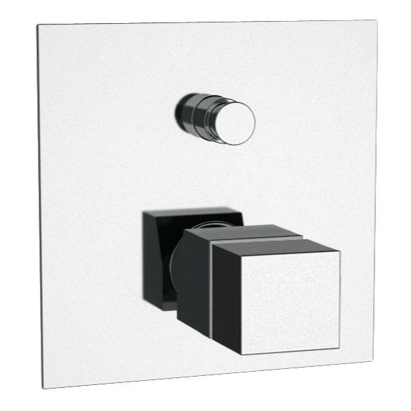 Diverter, Remer QT09US, Built in Thermostatic Bath Shower Mixer In Chrome