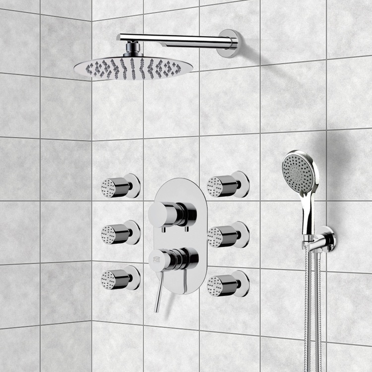 Shower Faucet, Remer R18, Chrome Shower System with 10