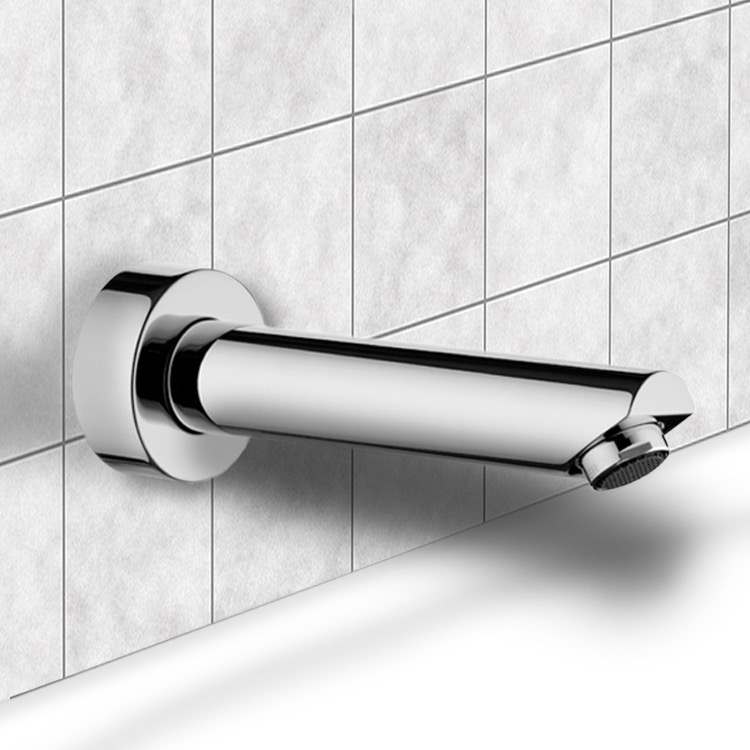 Tub Spout, Remer 91M, Round Wall-Mounted Tub Spout