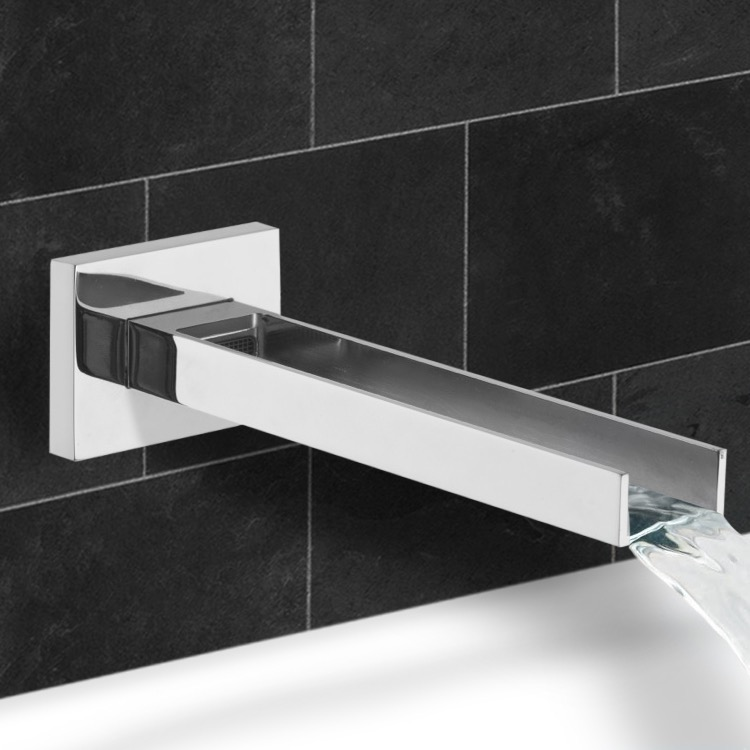 Tub Spout, Remer 91QCUS, Wall mount Waterfall Tub Spout