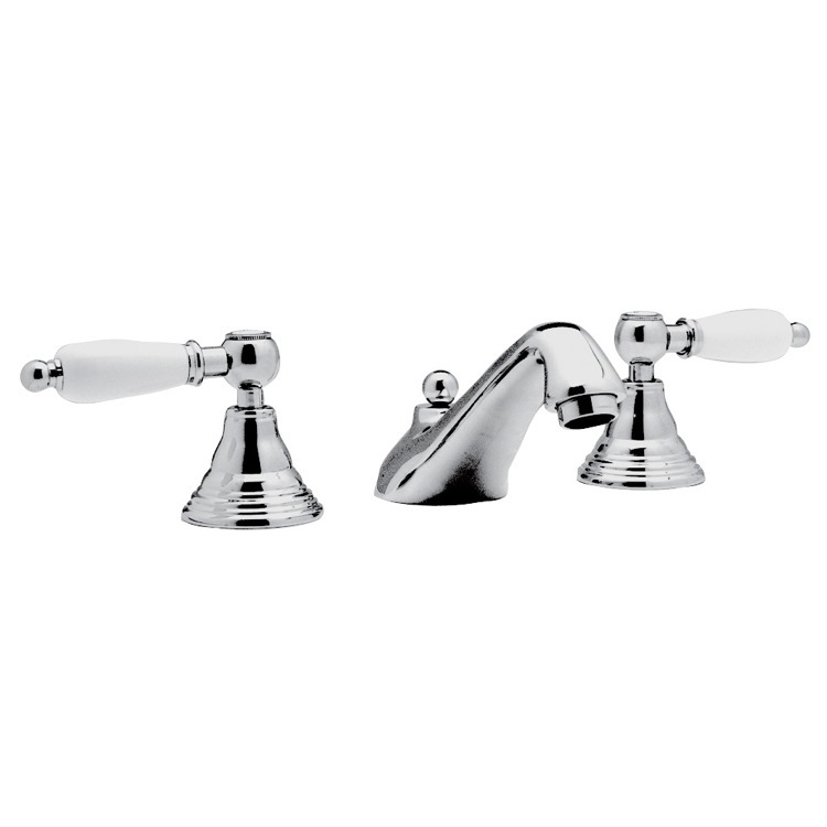 Bathroom Faucet, Remer LR11US, Chrome Widespread Bathroom Sink Faucet With Pop-Up Waste