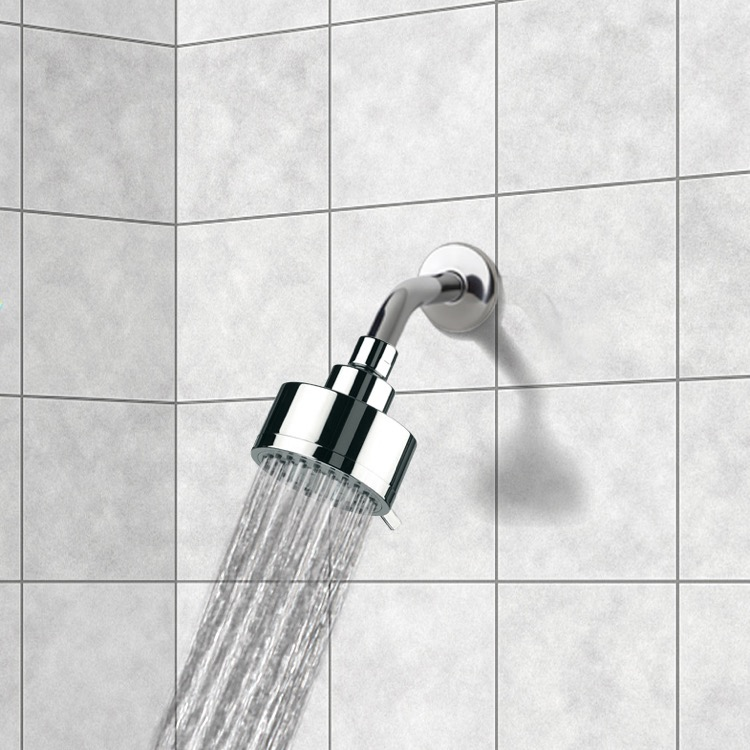 Shower Head, Remer 342-358MO, Full Spray 3 Function Shower Head with Arm