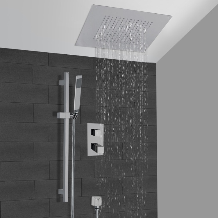 Shower Faucet, Remer CS002, Thermostatic Shower System With 16