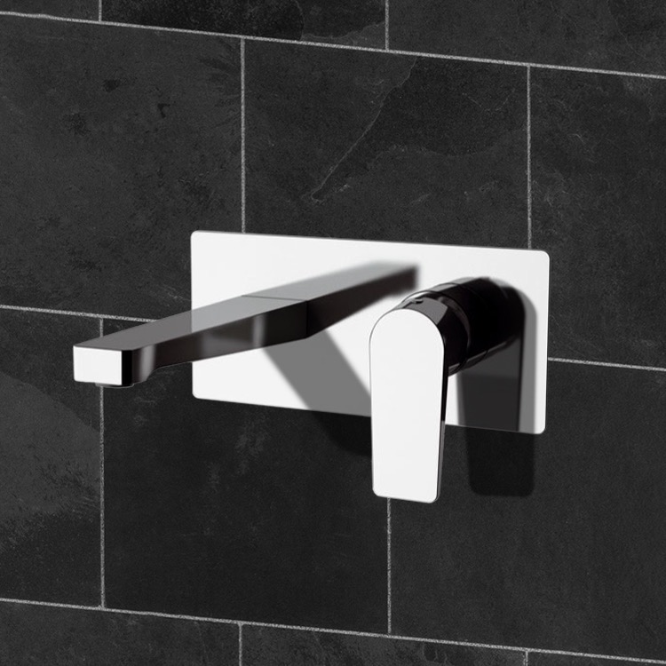 Bathroom Faucet, Remer D15, Wall Mounted Bathroom Faucet in Multiple Finishes