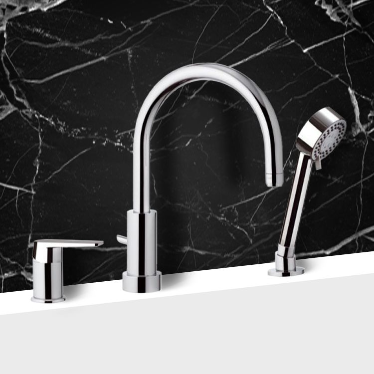 Tub Filler, Remer D07, Roman Tub Faucet with Personal Shower
