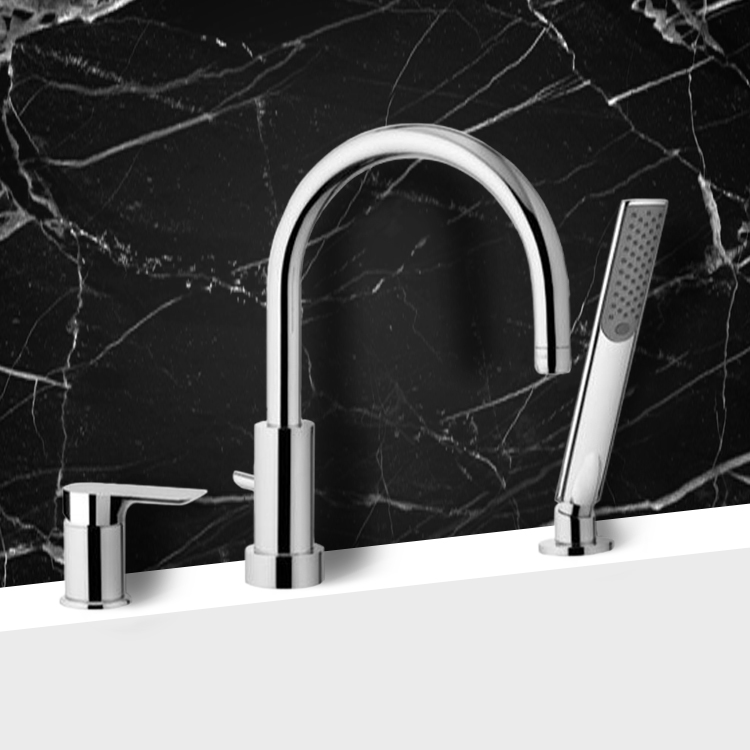 Tub Filler, Remer I07, Roman Bathtub Faucet with Hand Shower