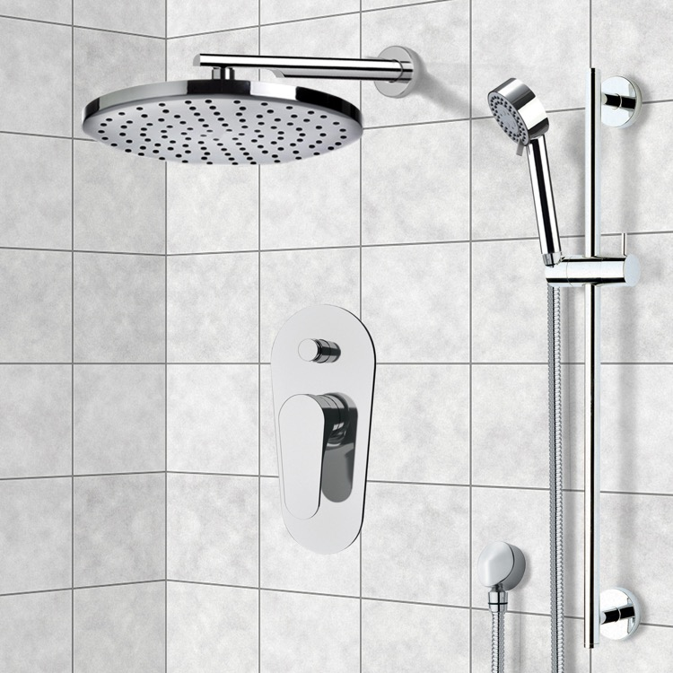 Shower Faucet, Remer L09LS01US, Chrome Shower System with 8