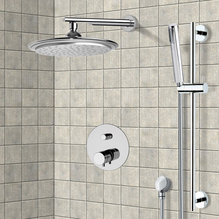 Shower Faucet, Remer NT09S01US, Chrome Thermostatic Shower System with 9