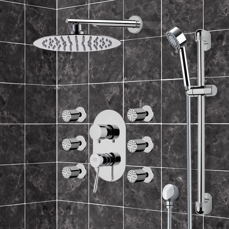 Shower Faucet, Remer R9, Chrome Shower System with 10