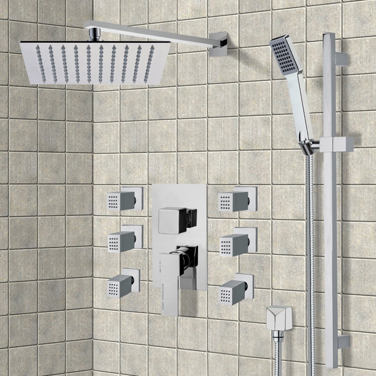 Shower Faucet, Remer S9, Chrome Shower System with 10