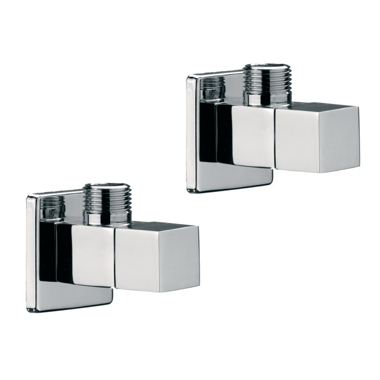 Angle Valve, Remer SA500S, Two Angle Valves With Ceramic Head Valves In Chrome Finish Remer