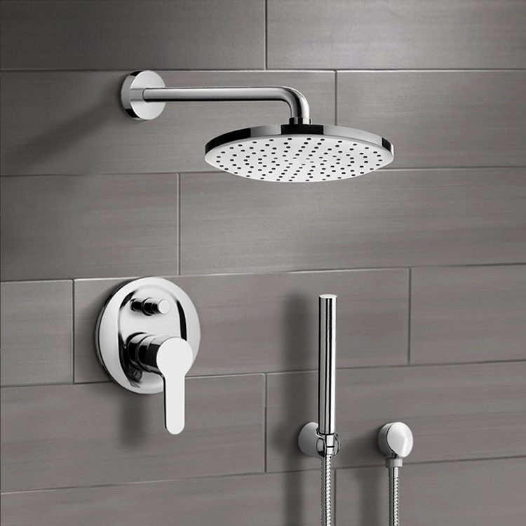 Shower Faucet, Remer SFH21, Chrome Shower System with 8