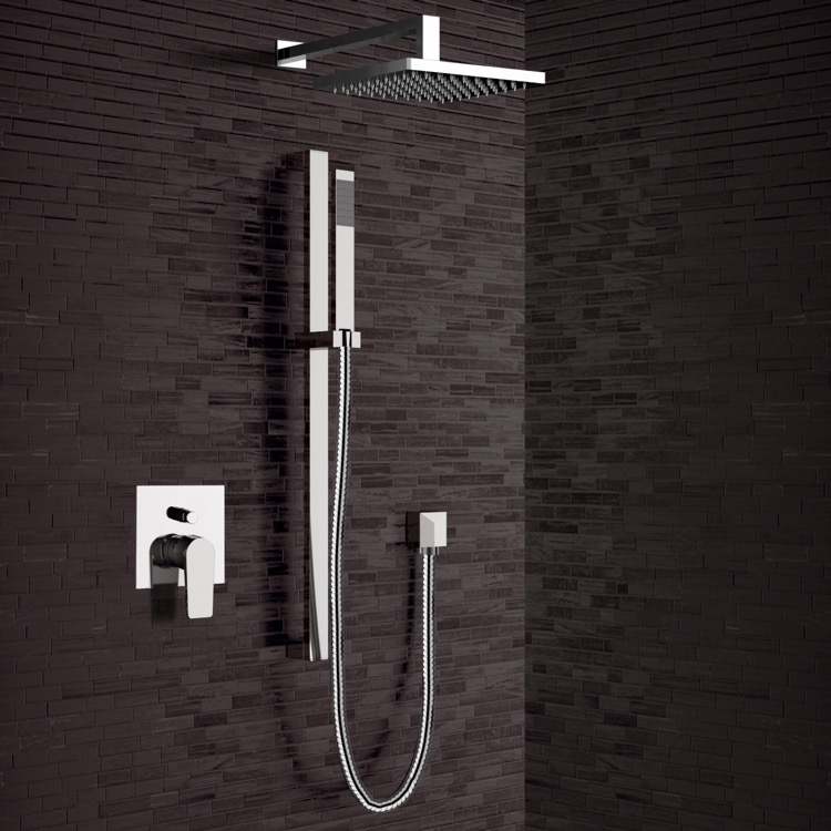 Shower Faucet, Remer SFR20, Chrome Shower System with 8