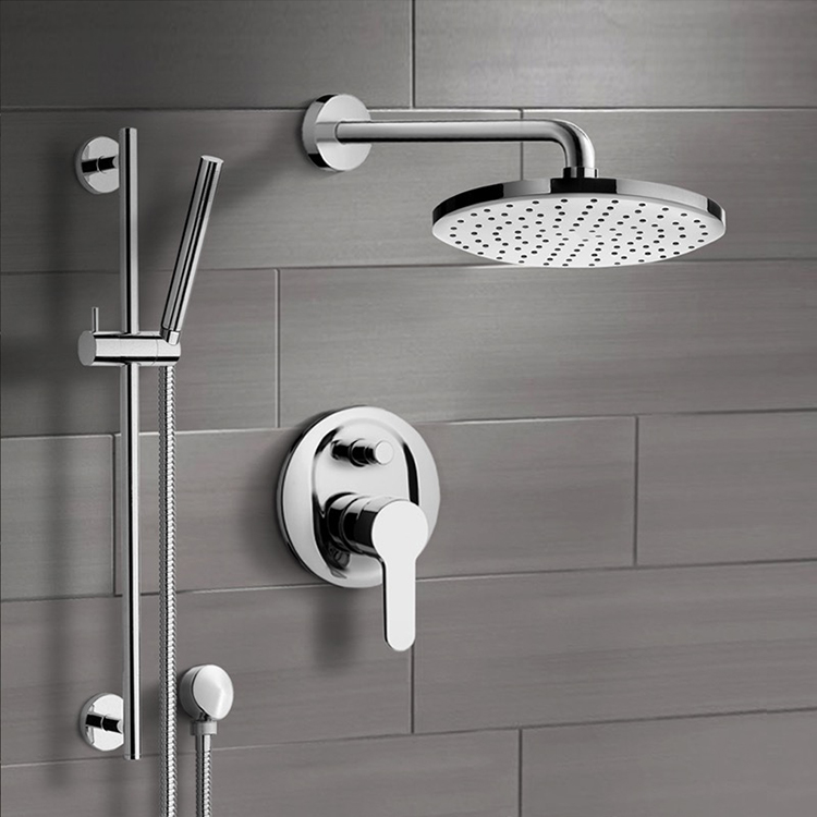 Shower Faucet, Remer SFR21, Chrome Shower System with 8