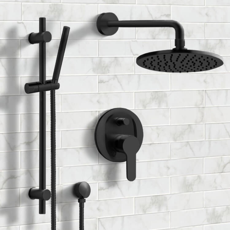 Shower Faucet, Remer SFR40, Matte Black Shower System with 8
