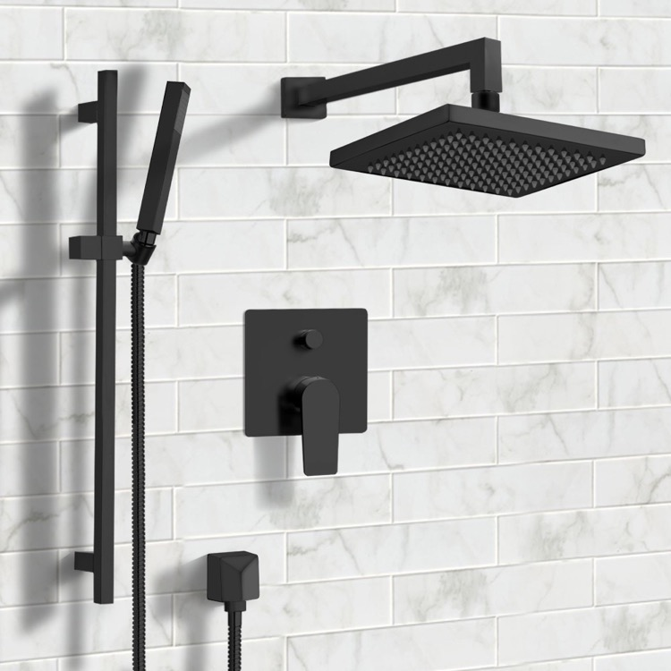 Shower Faucet, Remer SFR42, Matte Black Shower System with 8