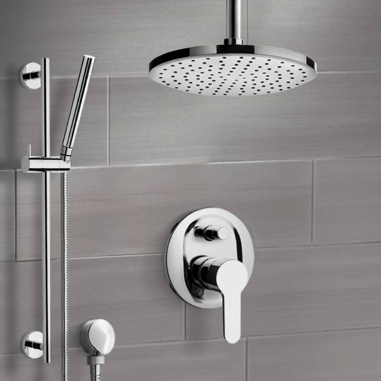 Shower Faucet, Remer SFR50-10, Chrome Shower Set with 10