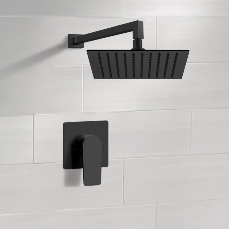 Shower Faucet, Remer SS43-12, Matte Black Shower Faucet with 12