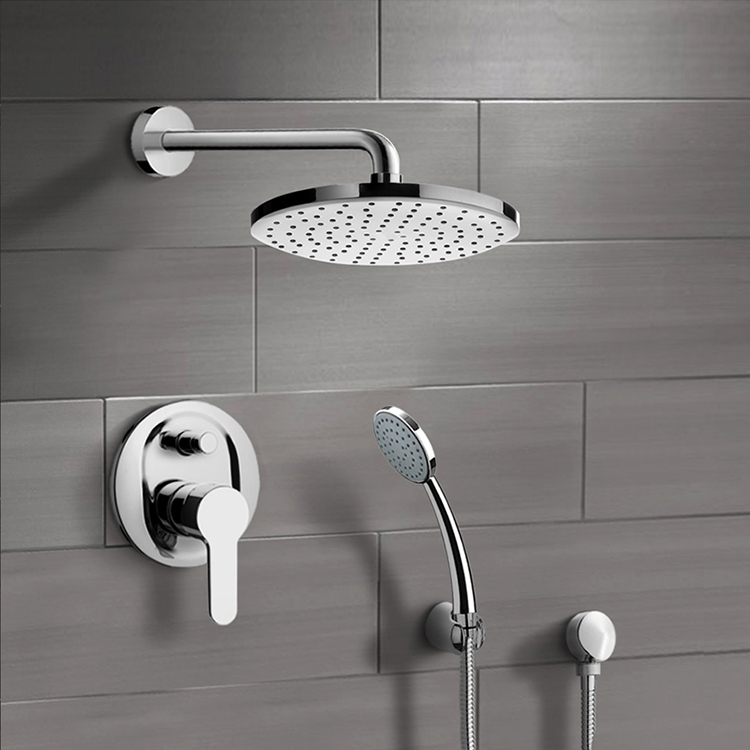 Shower Faucet, Remer SFH11, Chrome Shower System with 8
