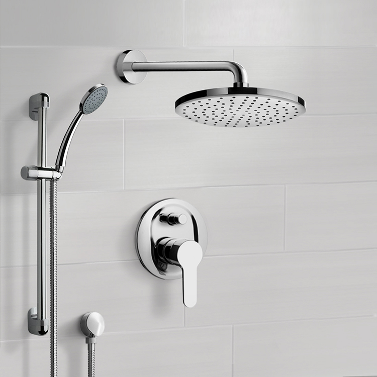 Shower Faucet, Remer SFR12, Chrome Shower System with 8