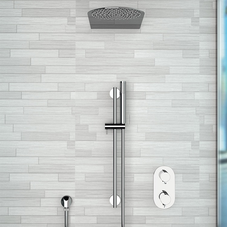 Shower Faucet, Remer SFR27, Chrome Thermostatic Shower System with 10