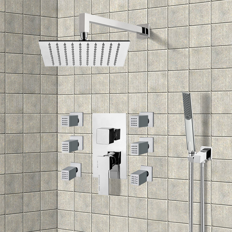 Shower Faucet, Remer S13, Chrome Shower System with 10