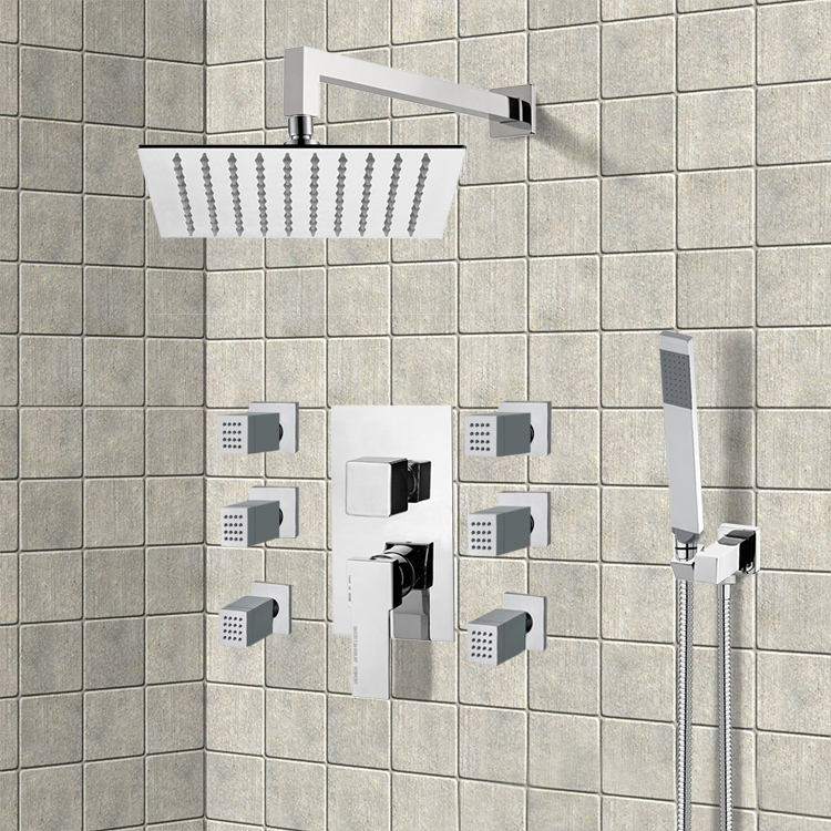 Shower Faucet, Remer S16, Chrome Shower System with 10