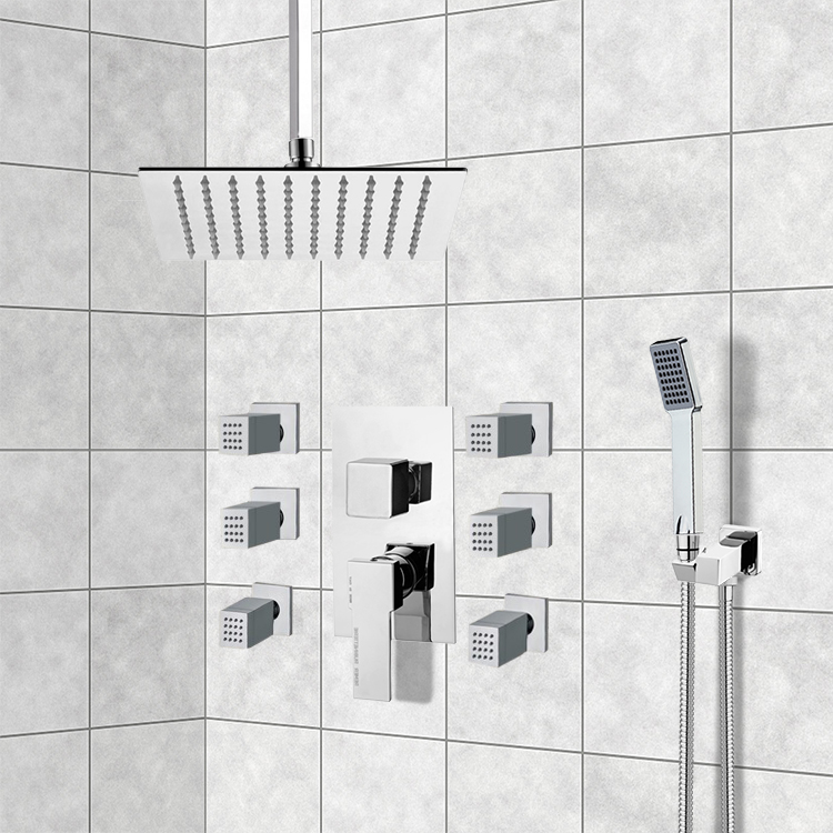Shower Faucet, Remer S20, Chrome Shower System with Ceiling 10