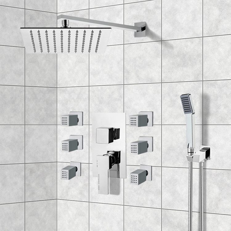 Shower Faucet, Remer S21, Chrome Shower System with 10