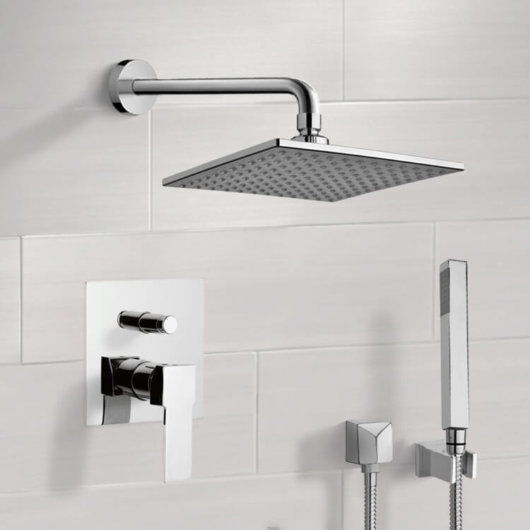 Shower Faucet, Remer SFH02, Chrome Shower System with 8