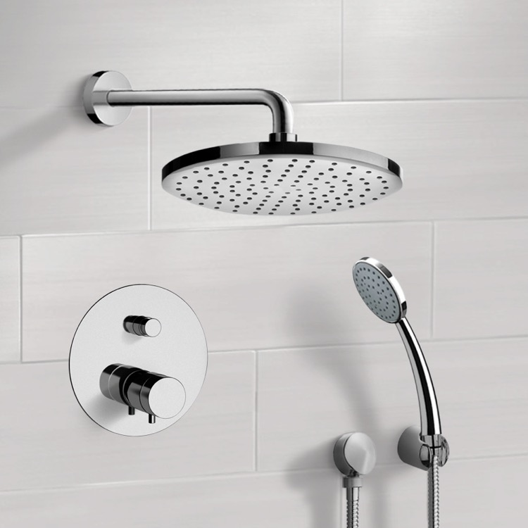 Shower Faucets Wall Mounted Rainfall 8 Shower Panel Dual Handle Bathroom Shower Faucet System With Handheld Shower Shower Equipment