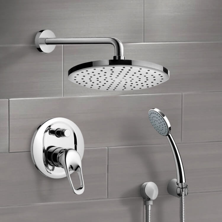 Shower Faucet, Remer SFH05, Chrome Shower System with 8