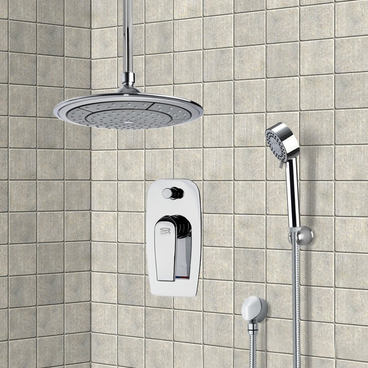 Shower Faucet, Remer SFH6002, Chrome Shower System with 9