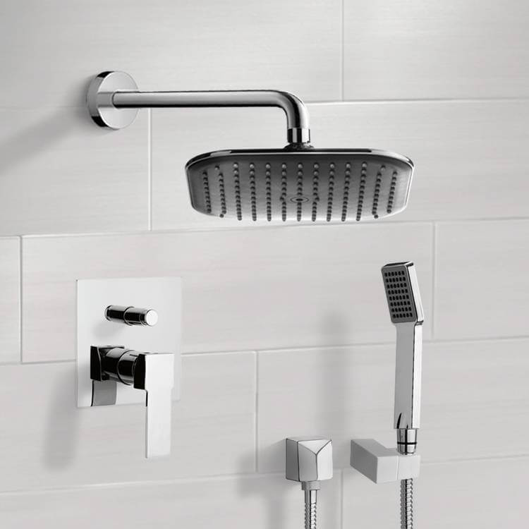 Shower Faucet, Remer SFH6036, Chrome Shower System with 8