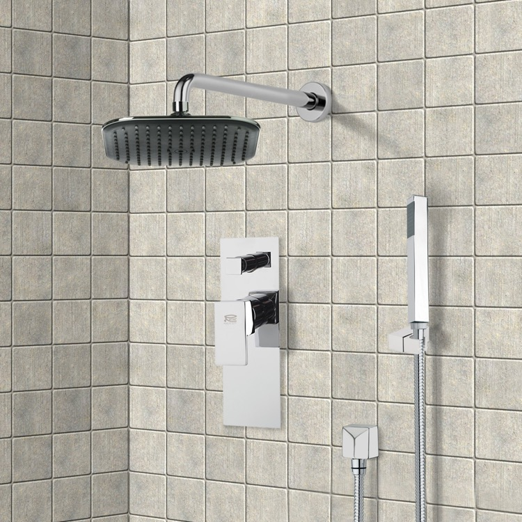 Shower Faucet, Remer SFH6037, Chrome Shower System with 8
