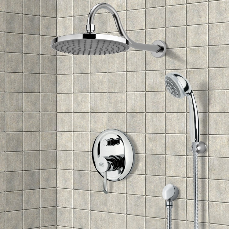 Shower Faucet, Remer SFH6065, Chrome Shower System with 8