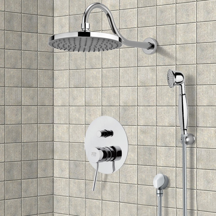 Shower Faucet, Remer SFH6066, Chrome Shower System with 8
