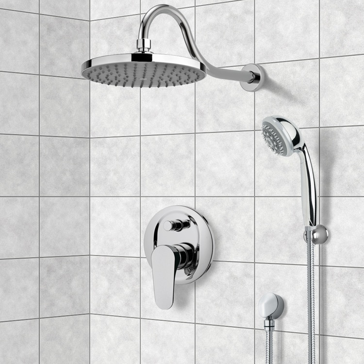 Shower Faucet, Remer SFH6080, Chrome Shower System with 8
