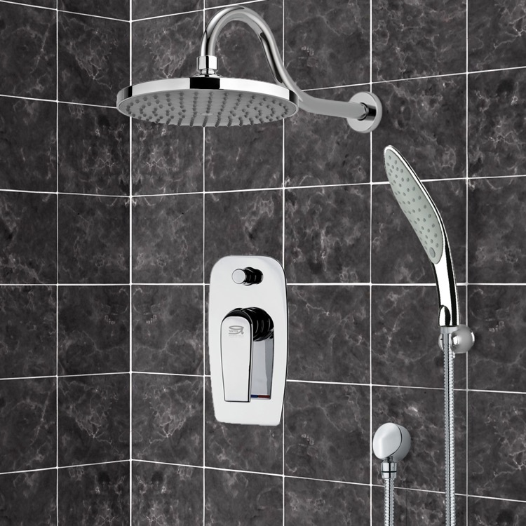 Shower Faucet, Remer SFH6082, Chrome Shower System with 8
