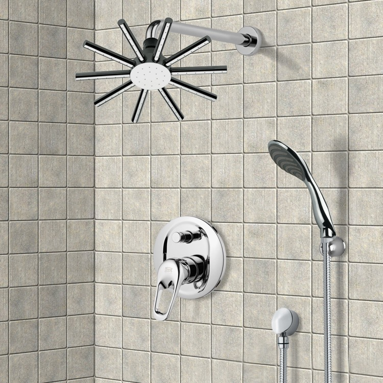Shower Faucet, Remer SFH6085, Chrome Shower System with 10