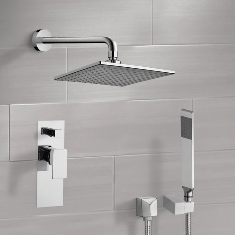 Shower Faucet, Remer SFH6112, Chrome Shower System with 8
