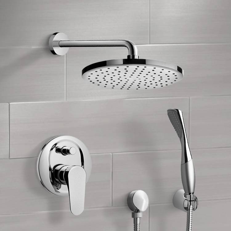 Shower Faucet, Remer SFH6149, Chrome Shower System with 8