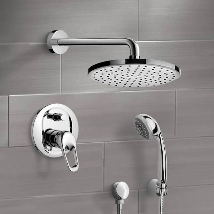 Shower Faucet, Remer SFH6150, Chrome Shower System with 8