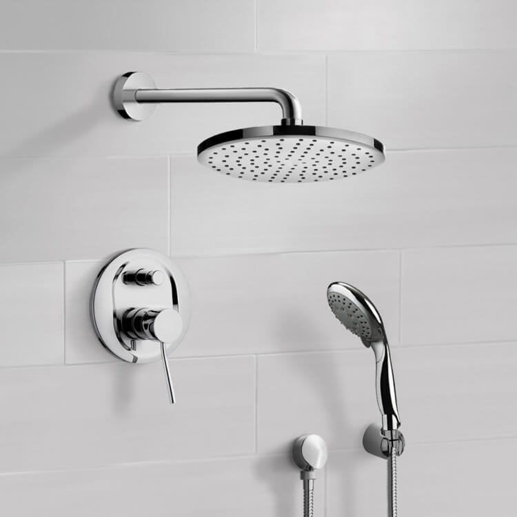 Shower Faucet, Remer SFH6166, Chrome Shower System with 8