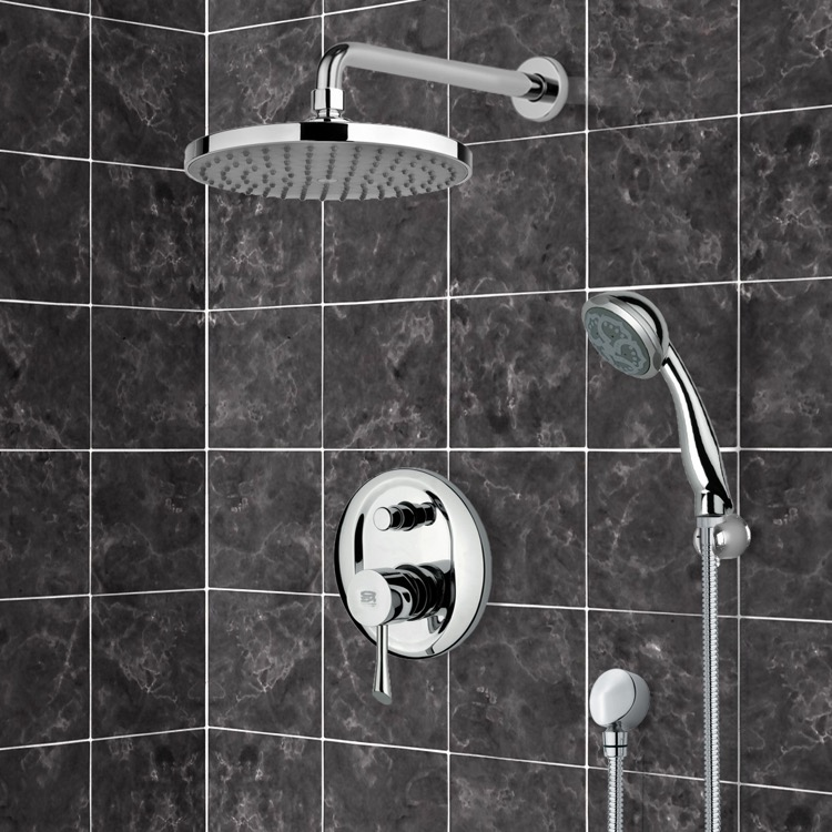 Shower Faucet, Remer SFH6168, Chrome Shower System with 8