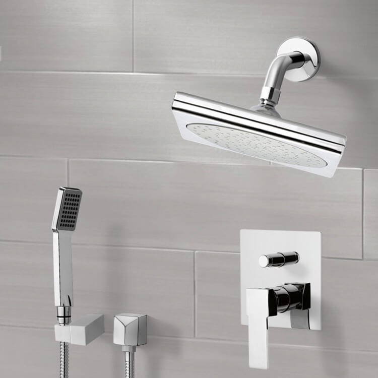 Shower Faucet, Remer SFH6194, Chrome Shower System with 9