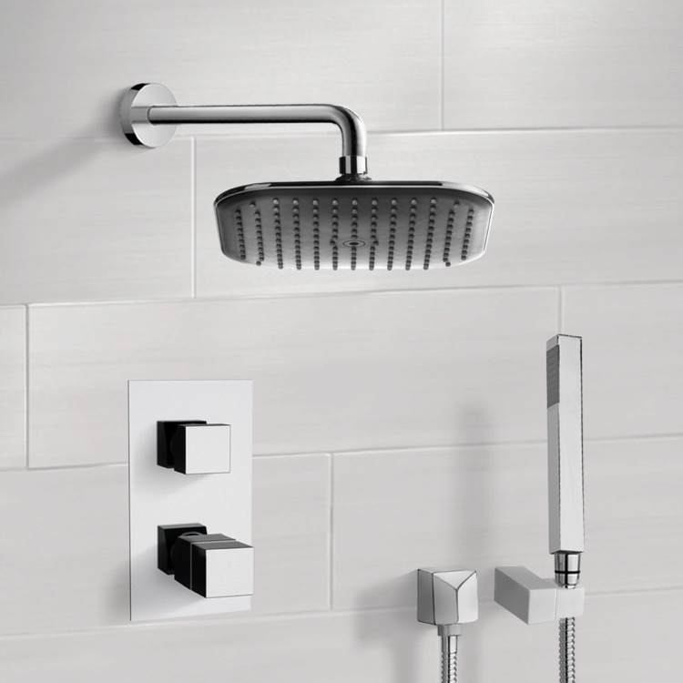 Shower Faucet, Remer SFH6404, Chrome Thermostatic Shower System with 8
