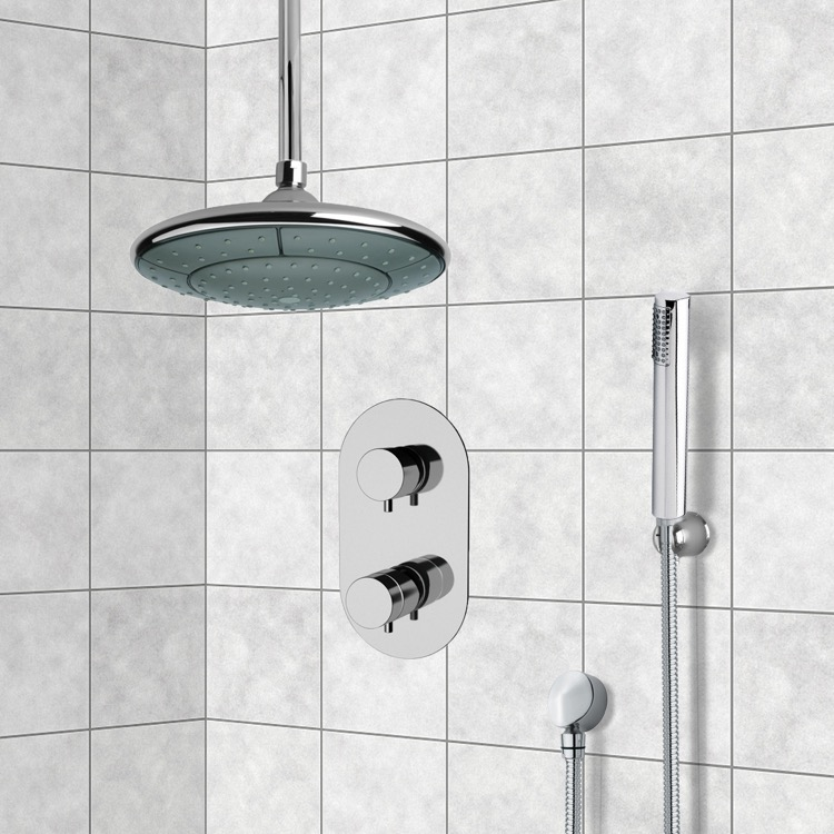 Shower Faucet, Remer SFH6406, Chrome Thermostatic Shower System with 9